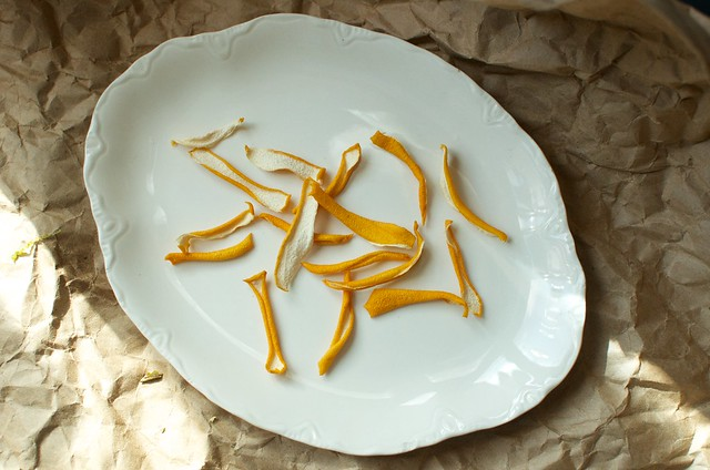dried Meyer lemon peel
