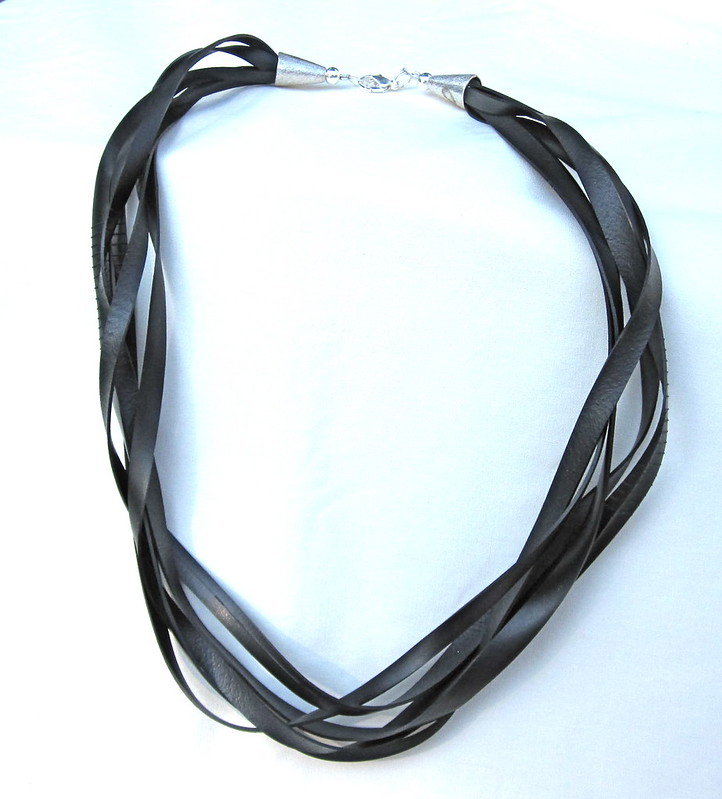 Groovy Garbage upcycled inner tube necklace