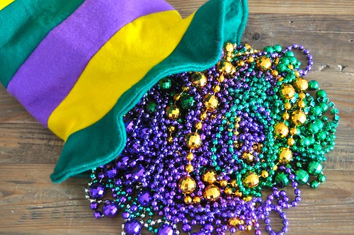 Sorting Mardi Gras Beads