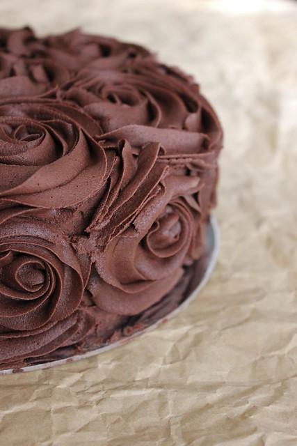 Chocolate Rosette Cake