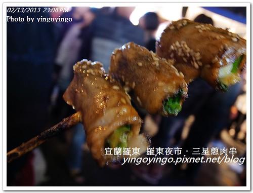 羅東夜市_三星蔥肉串20130213_R0072139