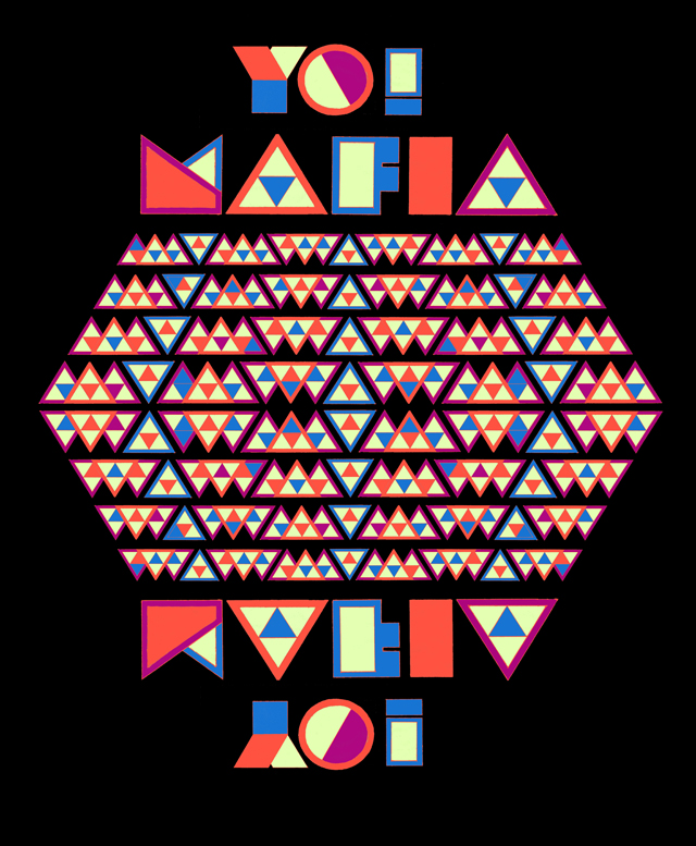 YO MAFIA font design ROUGH