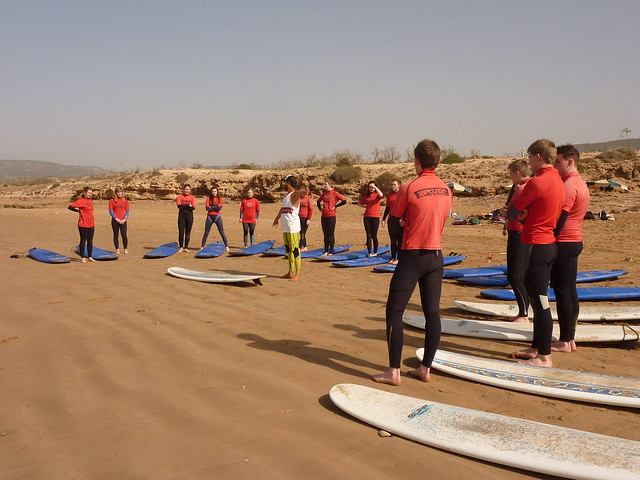 FEB 13 Morocco trip-surfing tuition