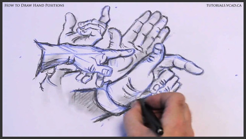 learn how to draw hand positions 021