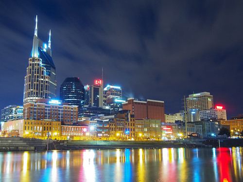 city longexposure light sky urban color reflection water skyline night clouds river interestingness cityscape nashville cloudy tennessee countrymusic cumberland omd cheeseburgers musiccity microfourthirds 20mmf17panasonic