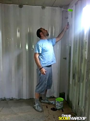 Pintando la caseta - 2 - MARGYJP