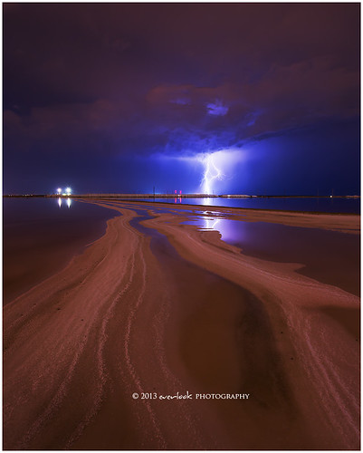 storm reflection weather night landscape photography nightscape bolivar adelaide lightning southaustralia saltpans everlook 52week8