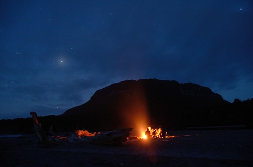 Campfire on the beach by kewl