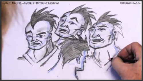 learn how to draw characters in different positions 034