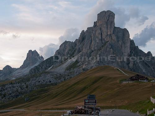 イタリア ドロミーティ ジアウ峠頂上からの眺め
