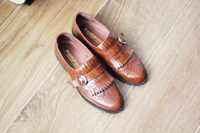 Russell and Bromley tan loafers