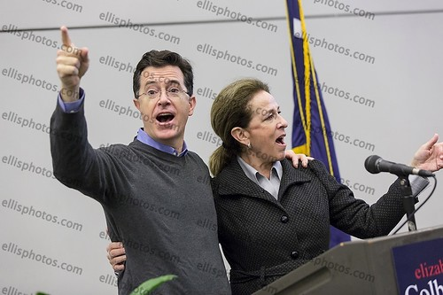 Comedian Stephen Colbert Campaigns with Sister