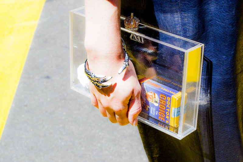 ASOS TRANSPARENT BOX CLUTCH