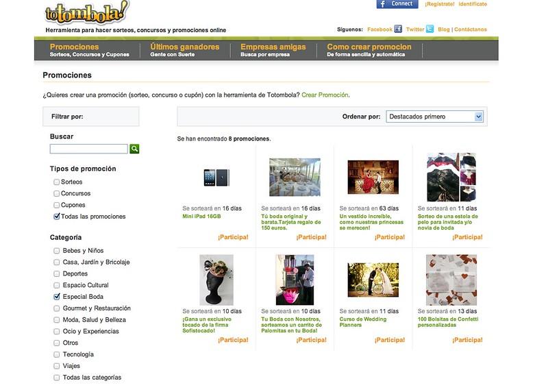 Sorteos Totombola - Monicositas