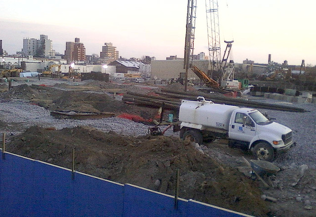 Whole Foods Gowanus -mounds of dirt