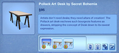 Pollack Art Desk by Secret Bohemia
