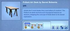 Pollack Art Desk by Secret Bohemia