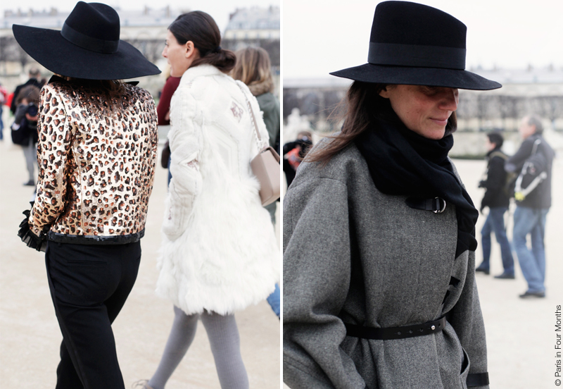 Anna Dello Russo, Giovanna Battaglia and Emmanuelle Alt at Paris Fashion Week FW13 by Carin Olsson (Paris in Four Months)