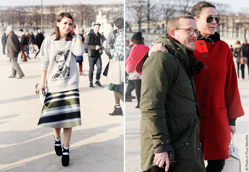 Miroslava Duma, Scott Schuman and Garance Doré at Paris Fashion Week FW13 by Carin Olsson (Paris in Four Months)