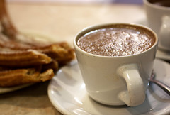 hot chocolate & churros @ churrería el moro