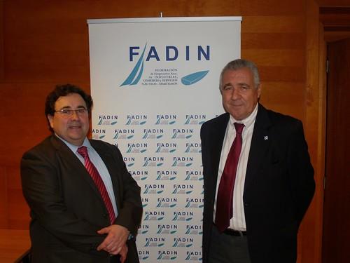 Esquerra a dreta: Miquel Guarner, secretari general de la Federación de Empresarios Asociados de Industrias, Comercio y Servicios Náutico-Marítimos (FADIN), i Carlos Rico, el seu president.