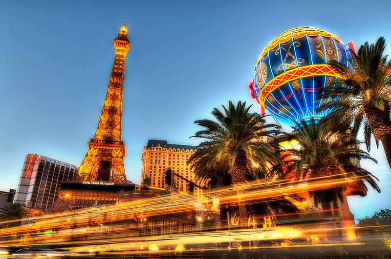 Paris Hotel Las Vegas – Light Trails on the Strip