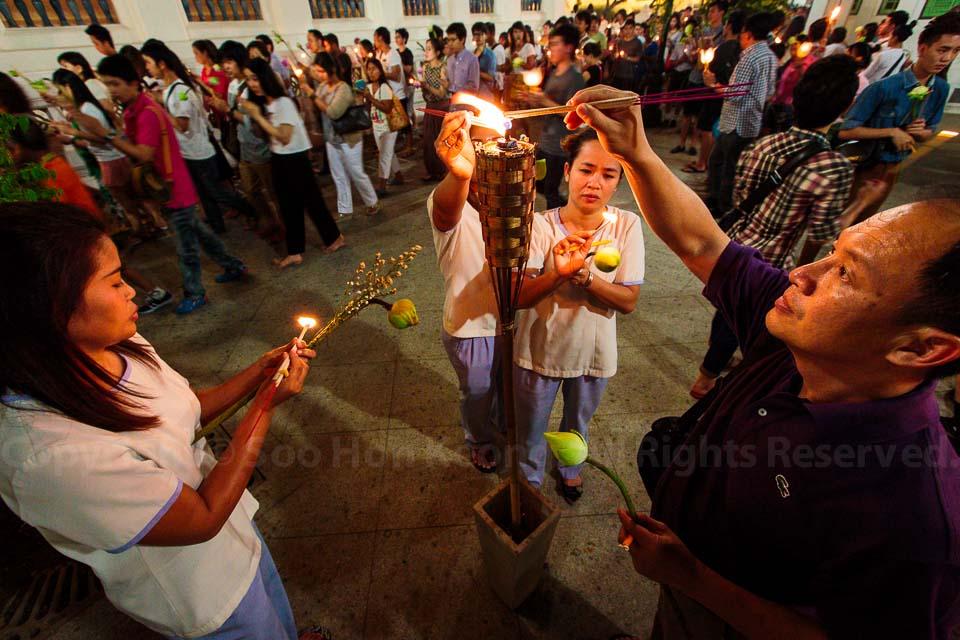 Makha Bucha Day @ Wat Pathumwanaram, Bangkok, Thailand