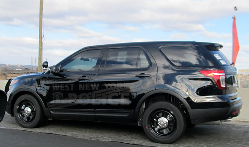 West New York, New Jersey Black Police SUV