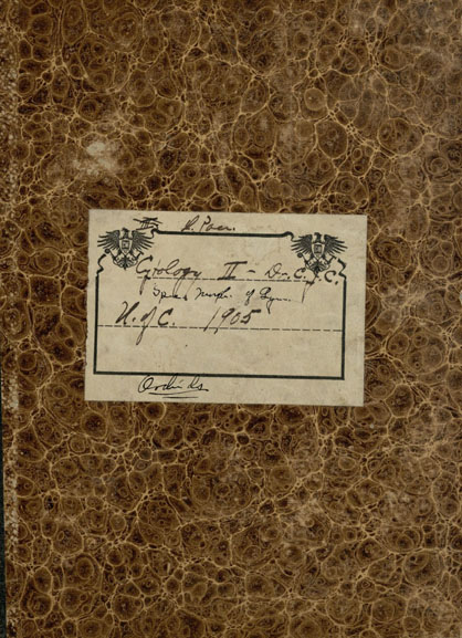 Cytology notebook, 1905