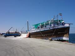 Barco no porto de Berbera