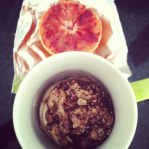 Breakfast Bread Pudding and Broiled Grapefruit
