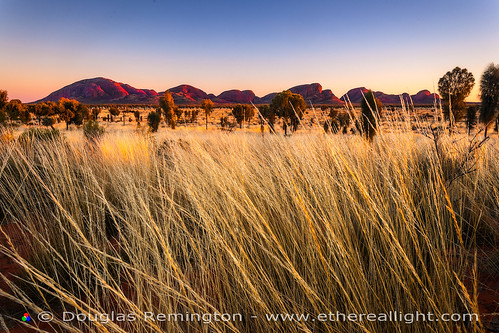 Sunrise, Kata Tjuta, Australia. by Douglas Remington - Ethereal Light® Photography