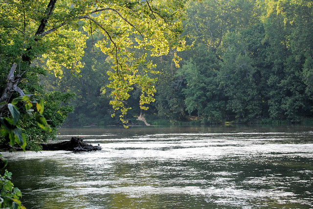 Sit along the banks of The Shenandoah River and listen to the water rippling past