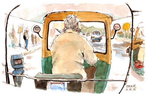 Taking a Rickshaw