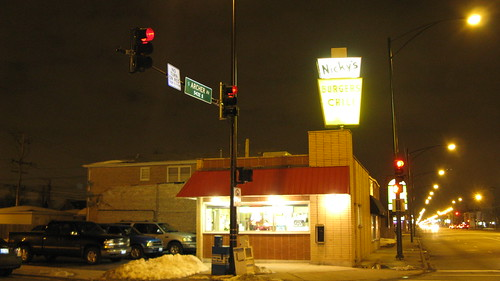Nicky's Hanburgers and Chili at South Archer and Austin Avenues. ( Aka Nicky's Gyros)  Chicago Illinois.  March 2013. by Eddie from Chicago