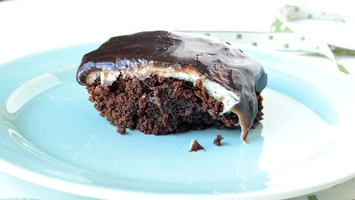 st. patrick's day brownies with cream cheese mint filling