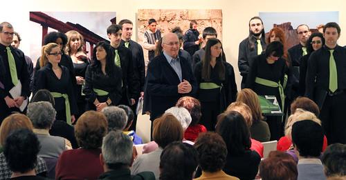 """EL CORO """"ÁNGEL BARJA"""" JJMM-ULE EN LA EXPOSICIÓN """"MEMORIA DE LA LUZ"""" - MUSEO DE LEÓN - VIERNES 15.03.13"""
