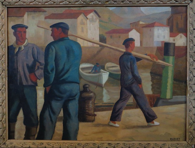 P cheurs basques vers 1936 ramiro arrue y valle 1892 for Artiste peintre pau