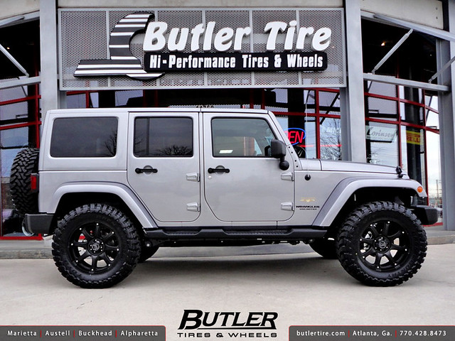 Jeep Wrangler with 20in Black Rhino Glamis Wheels | Flickr ...