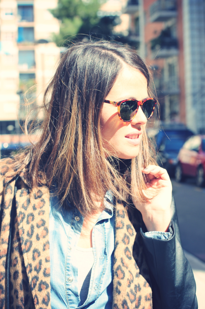 Look Total Denim + leopardo - Monicositas