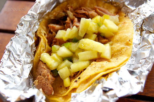 Beer Braised Pork Taco with Pineapple Salsa at Pgh Taco Truck