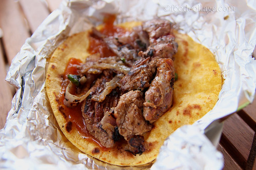 Ostrich Taco with Caramelized Onion, Jalapeno, and Pumpkin Butter at Pgh Taco Truck