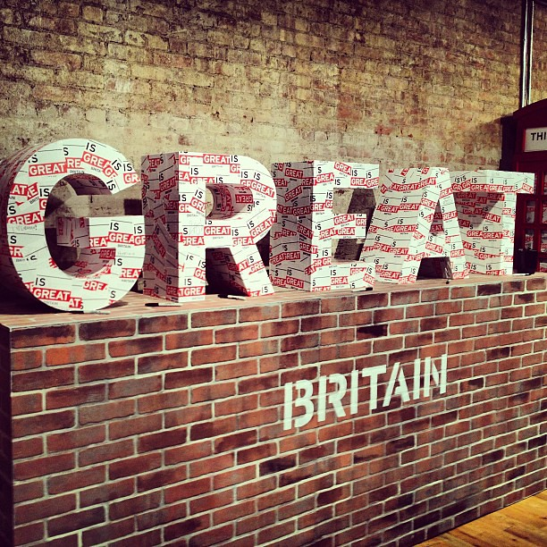 "Literal ""street"" art inside the Visit Britain showroom in NYC"