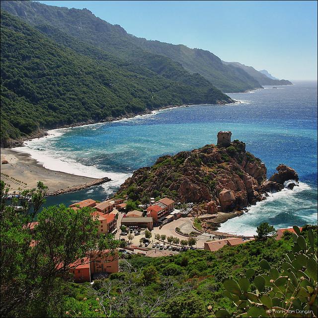 Birdview on the Gulf of Porto - Corsica (UNESCO)