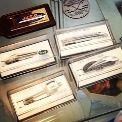 Shinkansen tie pins.