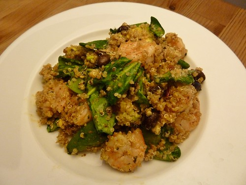 Quinoa, Spinach, and Shrimp Salad