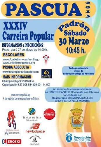 Padrón 2013 - Pascua - cartel carreira popular