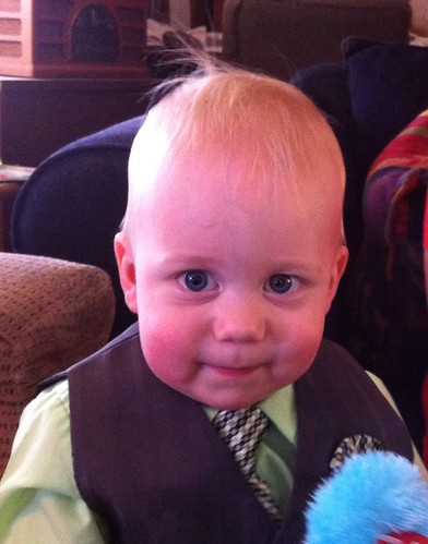 Quite the little man!