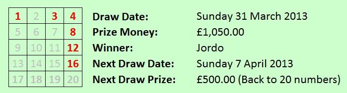 Lottery 31032013