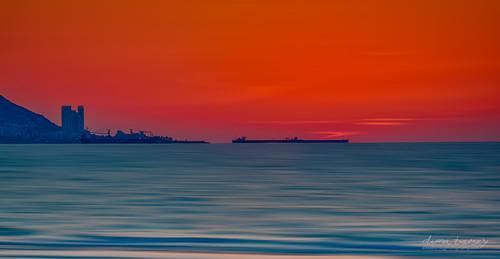 sunset port bay israel mediterranean haifa kiryatyam f32 qiryatyam ef70200mmf4lusm canoneos5dmarkiii top102012